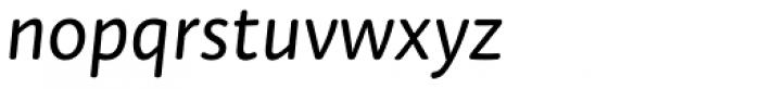 Tempera Rose Pro Book B Italic Font LOWERCASE