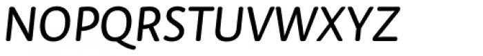 Tempera Rose Pro Book C Italic Font UPPERCASE