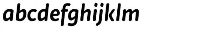 Tempera Rose Pro Medium Italic Font LOWERCASE