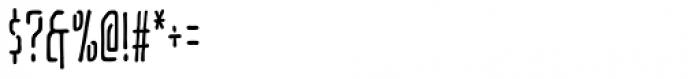 Temporal Gap Condensed Regular Font OTHER CHARS