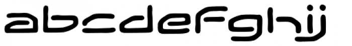 Temporal Gap Expanded Regular Font LOWERCASE