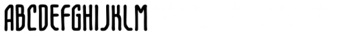 Temporal Shift Compressed Bold Font UPPERCASE