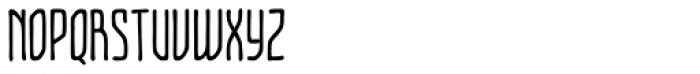 Temporal Shift Compressed Regular Font UPPERCASE
