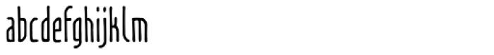 Temporal Shift Compressed Regular Font LOWERCASE