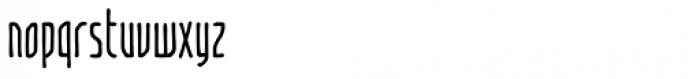 Temporal Shift Condensed Regular Font LOWERCASE