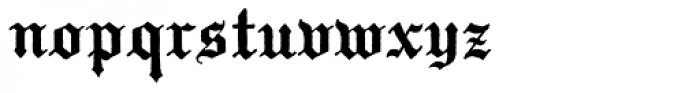 Temporal Font LOWERCASE