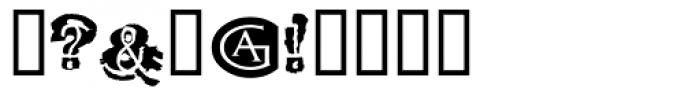 Tenpenny Dreadful Font OTHER CHARS