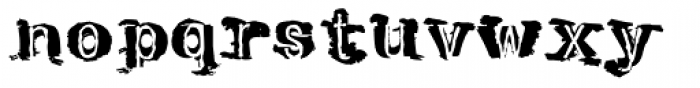 Tenpenny Dreadful Font LOWERCASE
