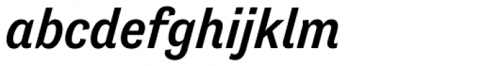 Tenso Medium Italic Font LOWERCASE