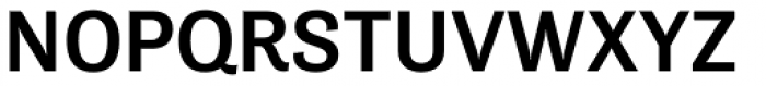 Tenso Medium Font UPPERCASE