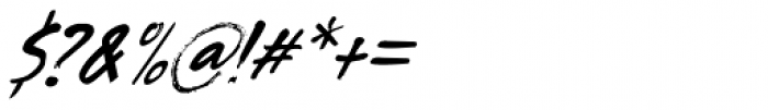 Tenterhooks Extra Italic Font OTHER CHARS
