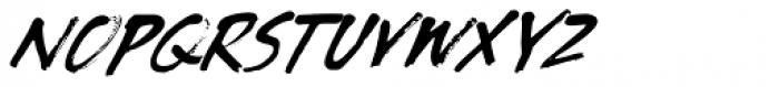Tenterhooks Extra Italic Font UPPERCASE