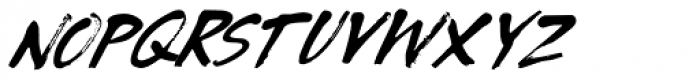 Tenterhooks Extra Italic Font LOWERCASE