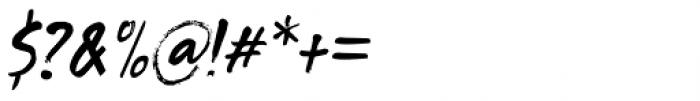 Tenterhooks Italic Font OTHER CHARS