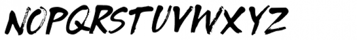 Tenterhooks Italic Font LOWERCASE