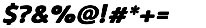 Terfens Black Italic Font OTHER CHARS