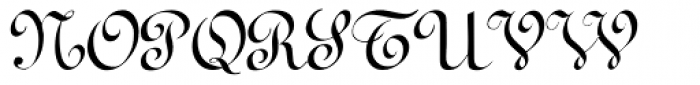 Terpsichore Font UPPERCASE