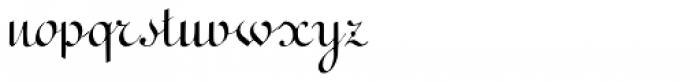 Terpsichore Font LOWERCASE