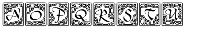 Tertius Illuminated Font UPPERCASE