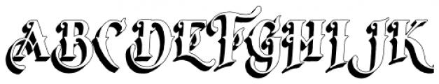 Tervia Shadow2 Font UPPERCASE