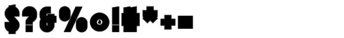 Tes UltraBlack Font OTHER CHARS
