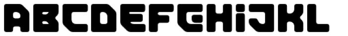 Tesla Round Font UPPERCASE