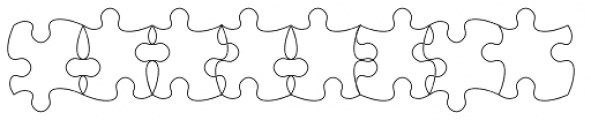 TessiePuzzlePieces Outline Font OTHER CHARS