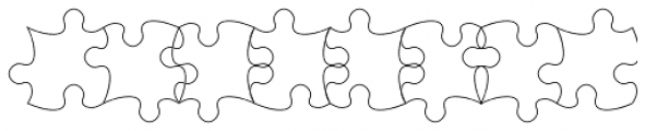 TessiePuzzlePieces Outline Font UPPERCASE