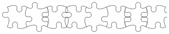 TessiePuzzlePieces Outline Font LOWERCASE