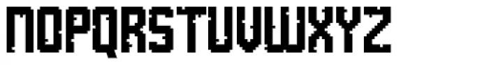 Tetris Quadrate Font UPPERCASE