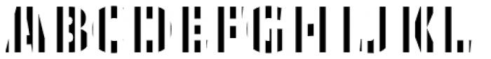 Text Tile Vstripe E Full Font UPPERCASE