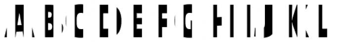 Text Tile Vstripe F Full Font UPPERCASE
