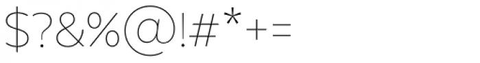 Texta Alt Thin Font OTHER CHARS