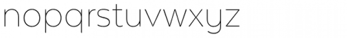Texta Alt Thin Font LOWERCASE