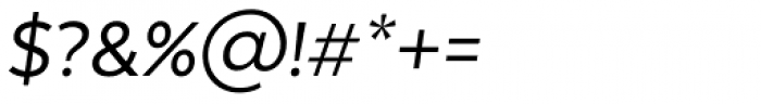 Texta Italic Font OTHER CHARS