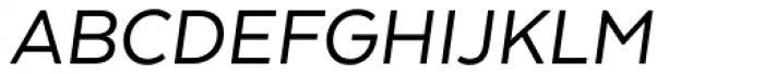 Texta Italic Font UPPERCASE