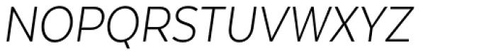 Texta Narrow Alt Light Italic Font UPPERCASE
