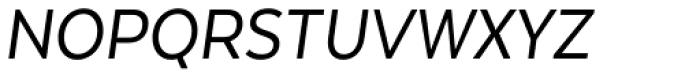Texta Narrow Italic Font UPPERCASE
