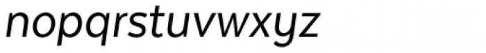 Texta Narrow Italic Font LOWERCASE