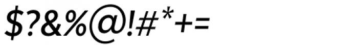 Texta Narrow Medium Italic Font OTHER CHARS