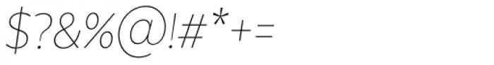 Texta Narrow Thin Italic Font OTHER CHARS