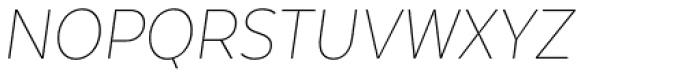 Texta Narrow Thin Italic Font UPPERCASE