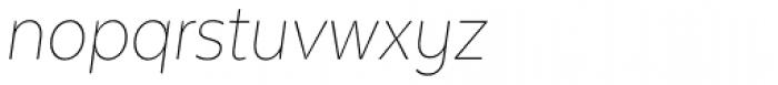 Texta Narrow Thin Italic Font LOWERCASE