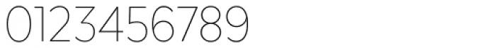 Texta Narrow Thin Font OTHER CHARS