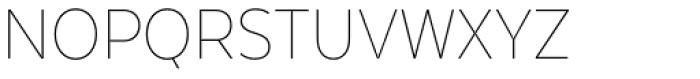 Texta Narrow Thin Font UPPERCASE