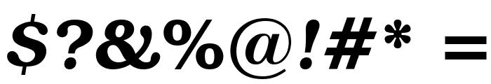 Textbook Demi Italic Font OTHER CHARS
