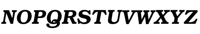 Textbook Demi Italic Font UPPERCASE
