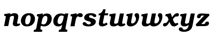 Textbook Demi Italic Font LOWERCASE