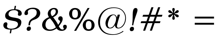 Textbook Light Italic Font OTHER CHARS