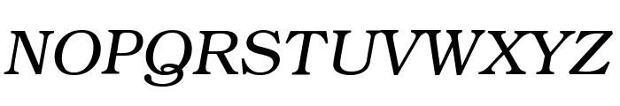 Textbook Light Italic Font UPPERCASE